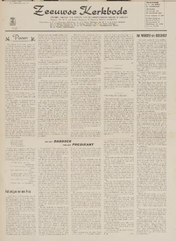 Zeeuwsche kerkbode, weekblad gewijd aan de belangen der gereformeerde kerken/ Zeeuwsch kerkblad 1963-04-12