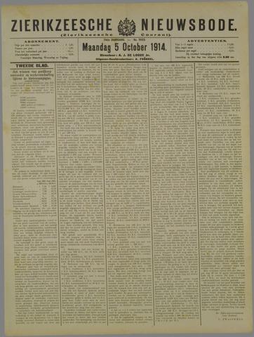Zierikzeesche Nieuwsbode 1914-10-05