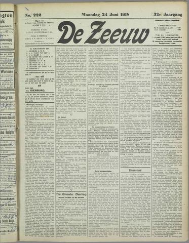 De Zeeuw. Christelijk-historisch nieuwsblad voor Zeeland 1918-06-24