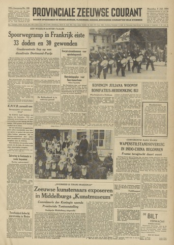 Provinciale Zeeuwse Courant 1954-07-05