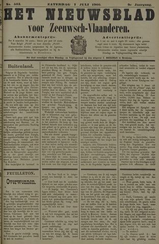 Nieuwsblad voor Zeeuwsch-Vlaanderen 1900-07-07