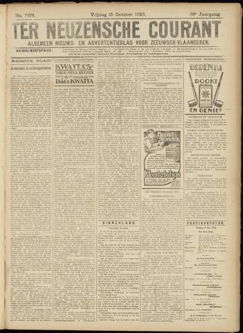 Ter Neuzensche Courant. Algemeen Nieuws- en Advertentieblad voor Zeeuwsch-Vlaanderen / Neuzensche Courant ... (idem) / (Algemeen) nieuws en advertentieblad voor Zeeuwsch-Vlaanderen 1926-10-15