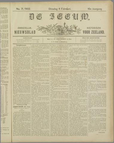 De Zeeuw. Christelijk-historisch nieuwsblad voor Zeeland 1902-02-04