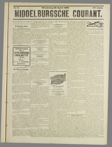 Middelburgsche Courant 1925-04-22