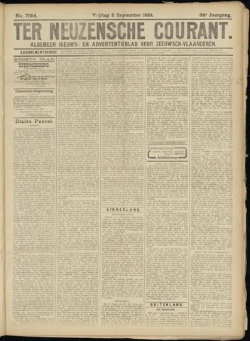 Ter Neuzensche Courant. Algemeen Nieuws- en Advertentieblad voor Zeeuwsch-Vlaanderen / Neuzensche Courant ... (idem) / (Algemeen) nieuws en advertentieblad voor Zeeuwsch-Vlaanderen 1924-09-05