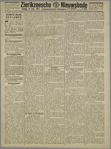 Zierikzeesche Nieuwsbode 1917-12-14
