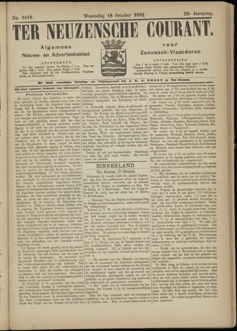 Ter Neuzensche Courant. Algemeen Nieuws- en Advertentieblad voor Zeeuwsch-Vlaanderen / Neuzensche Courant ... (idem) / (Algemeen) nieuws en advertentieblad voor Zeeuwsch-Vlaanderen 1882-10-18