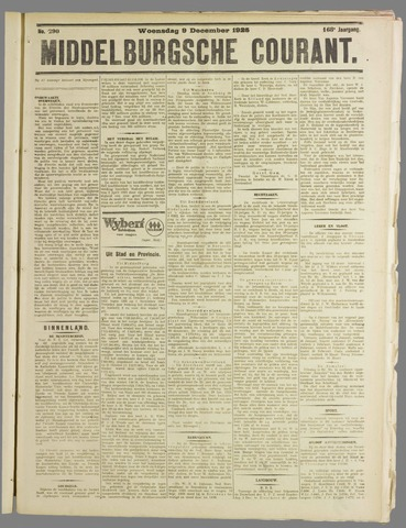 Middelburgsche Courant 1925-12-09