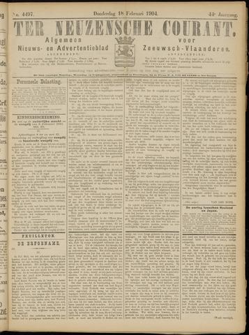 Ter Neuzensche Courant. Algemeen Nieuws- en Advertentieblad voor Zeeuwsch-Vlaanderen / Neuzensche Courant ... (idem) / (Algemeen) nieuws en advertentieblad voor Zeeuwsch-Vlaanderen 1904-02-18