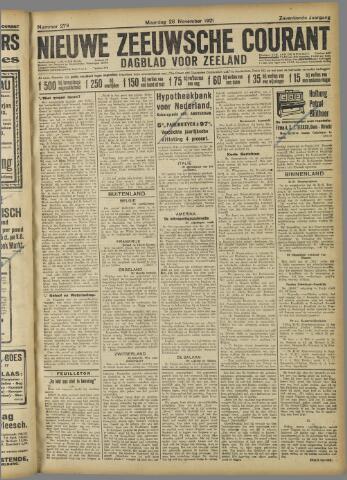 Nieuwe Zeeuwsche Courant 1921-11-28