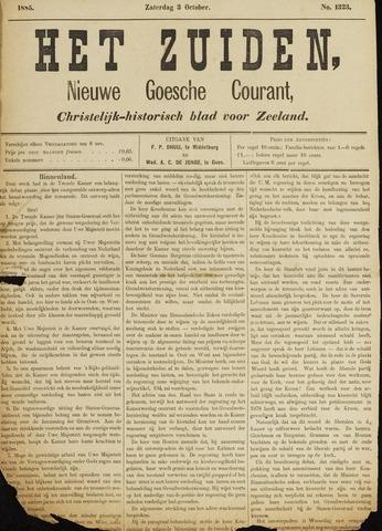 Het Zuiden, Christelijk-historisch blad 1885-10-03