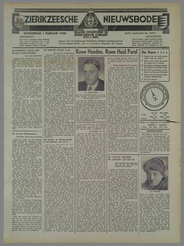 Zierikzeesche Nieuwsbode 1940-02-01