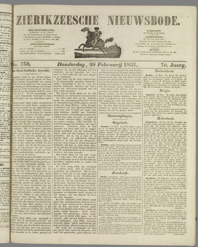 Zierikzeesche Nieuwsbode 1851-02-20