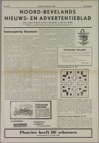 Noord-Bevelands Nieuws- en advertentieblad 1969-02-22