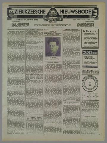 Zierikzeesche Nieuwsbode 1940-01-27