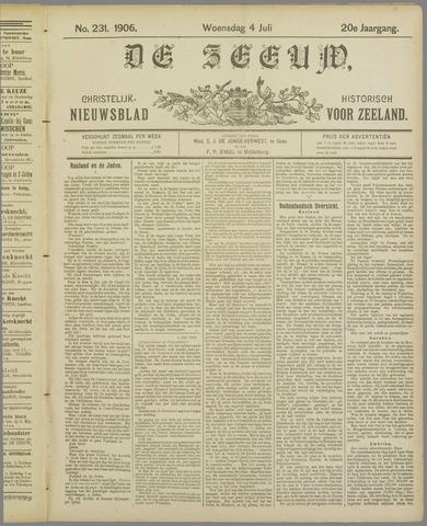 De Zeeuw. Christelijk-historisch nieuwsblad voor Zeeland 1906-07-04