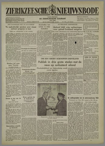 Zierikzeesche Nieuwsbode 1954-02-05