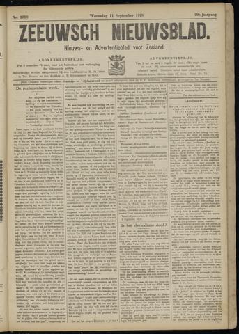 Ter Neuzensch Volksblad. Vrijzinnig nieuws- en advertentieblad voor Zeeuwsch- Vlaanderen / Zeeuwsch Nieuwsblad. Nieuws- en advertentieblad voor Zeeland 1918-09-11