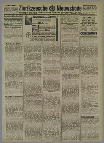 Zierikzeesche Nieuwsbode 1932-09-26