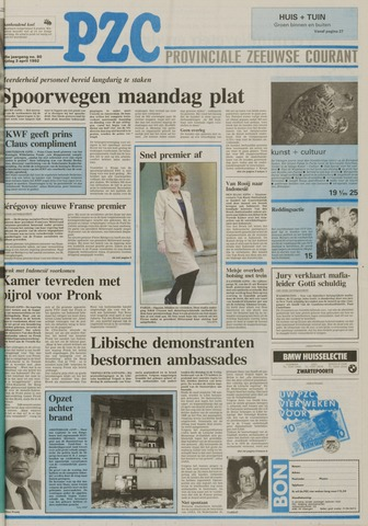 Provinciale Zeeuwse Courant 1992-04-03