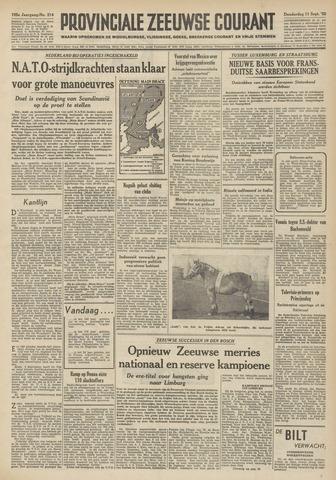 Provinciale Zeeuwse Courant 1952-09-11