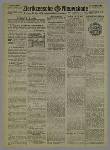 Zierikzeesche Nieuwsbode 1923-12-24