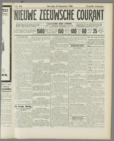 Nieuwe Zeeuwsche Courant 1916-09-23