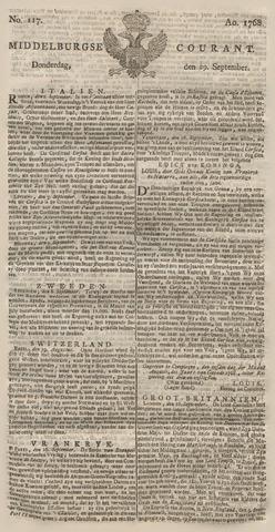 Middelburgsche Courant 1768-09-29