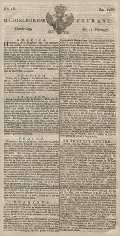 Middelburgsche Courant 1768-02-11