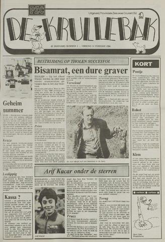 Provinciale Zeeuwse Courant katern Krullenbak (1981-1999) 1984-02-14