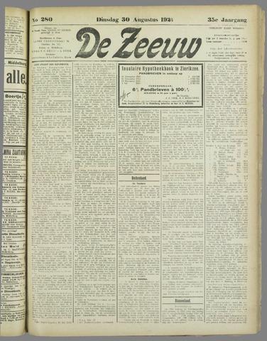 De Zeeuw. Christelijk-historisch nieuwsblad voor Zeeland 1921-08-30