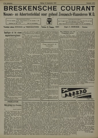 Breskensche Courant 1938-09-23