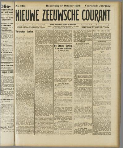Nieuwe Zeeuwsche Courant 1918-10-17