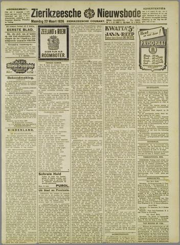 Zierikzeesche Nieuwsbode 1926-03-22