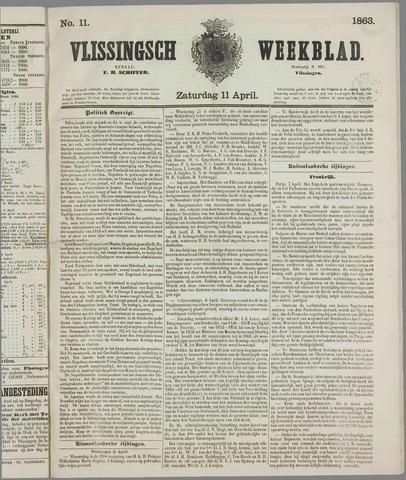 Vlissings Weekblad 1863-04-11
