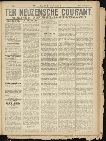 Ter Neuzensche Courant. Algemeen Nieuws- en Advertentieblad voor Zeeuwsch-Vlaanderen / Neuzensche Courant ... (idem) / (Algemeen) nieuws en advertentieblad voor Zeeuwsch-Vlaanderen 1923-11-28