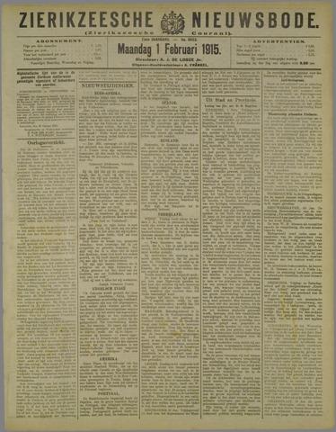 Zierikzeesche Nieuwsbode 1915-02-01