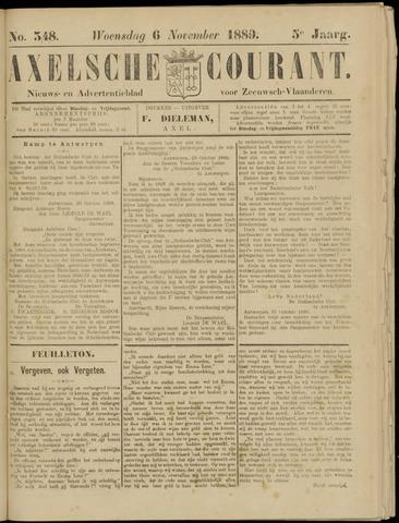 Axelsche Courant 1889-11-06