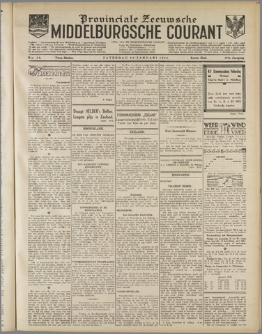 Middelburgsche Courant 1932-01-16
