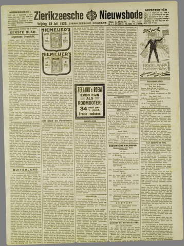 Zierikzeesche Nieuwsbode 1926-07-23