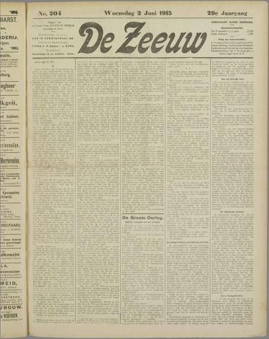 De Zeeuw. Christelijk-historisch nieuwsblad voor Zeeland 1915-06-02