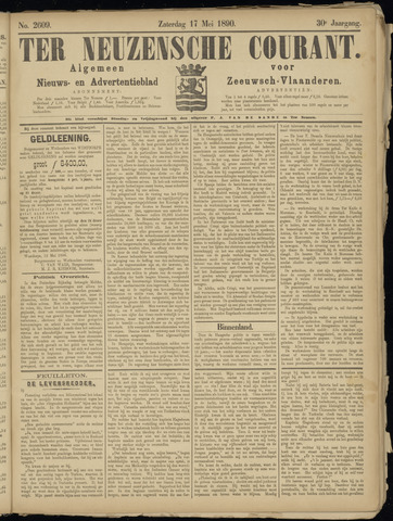 Ter Neuzensche Courant. Algemeen Nieuws- en Advertentieblad voor Zeeuwsch-Vlaanderen / Neuzensche Courant ... (idem) / (Algemeen) nieuws en advertentieblad voor Zeeuwsch-Vlaanderen 1890-05-17