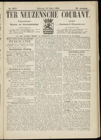Ter Neuzensche Courant. Algemeen Nieuws- en Advertentieblad voor Zeeuwsch-Vlaanderen / Neuzensche Courant ... (idem) / (Algemeen) nieuws en advertentieblad voor Zeeuwsch-Vlaanderen 1881-03-19