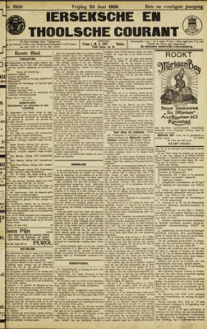 Ierseksche en Thoolsche Courant 1926-06-25