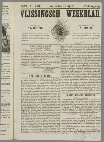 Vlissings Weekblad 1867-04-13