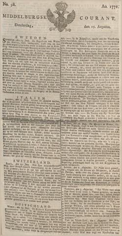 Middelburgsche Courant 1771-08-15