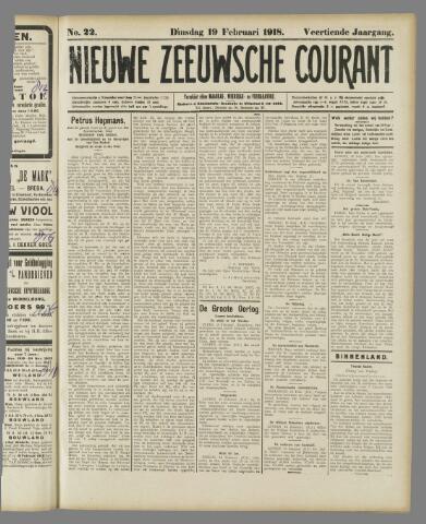 Nieuwe Zeeuwsche Courant 1918-02-19
