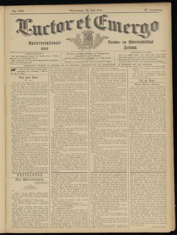 Luctor et Emergo. Antirevolutionair nieuws- en advertentieblad voor Zeeland / Zeeuwsch-Vlaanderen. Orgaan ter verspreiding van de christelijke beginselen in Zeeuwsch-Vlaanderen 1914-07-22