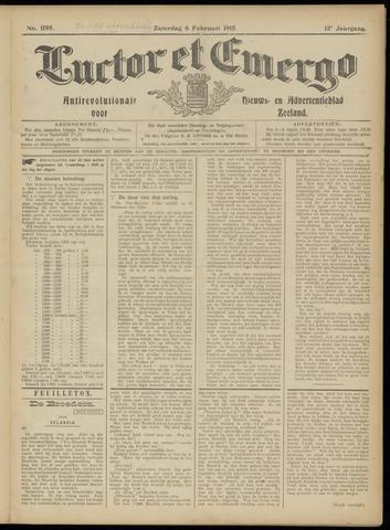 Luctor et Emergo. Antirevolutionair nieuws- en advertentieblad voor Zeeland / Zeeuwsch-Vlaanderen. Orgaan ter verspreiding van de christelijke beginselen in Zeeuwsch-Vlaanderen 1915-02-06
