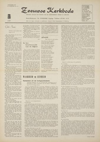 Zeeuwsche kerkbode, weekblad gewijd aan de belangen der gereformeerde kerken/ Zeeuwsch kerkblad 1970-12-03